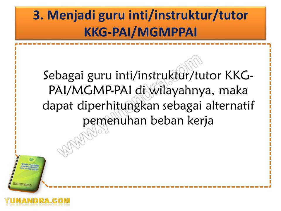 a.Pemberian tugas membina ekstrakurikuler PAI diterbitkan melalui SK kepala satuan pendidikan yang bersangkutan, diketahui oleh pengawas PAI wil.binaa