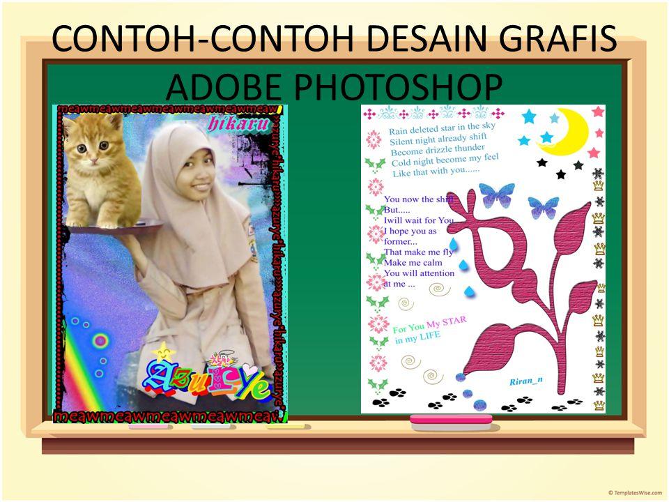 CONTOH-CONTOH DESAIN GRAFIS ADOBE PHOTOSHOP