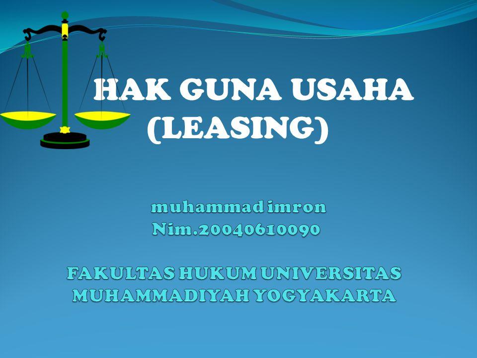 HAK GUNA USAHA (LEASING)