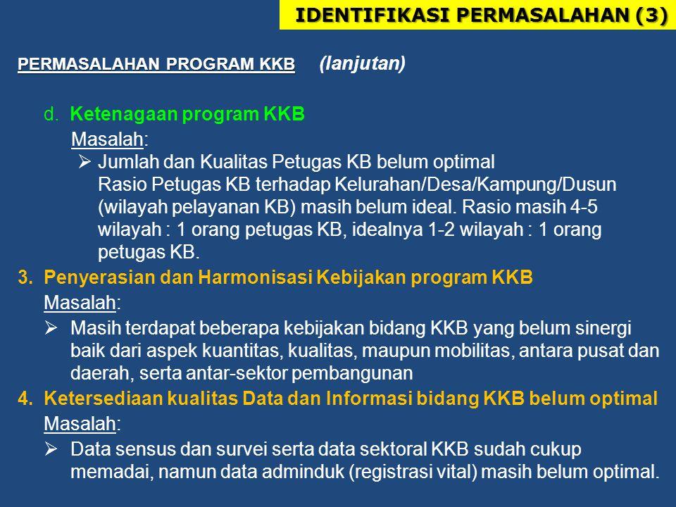 PERMASALAHAN PROGRAM KKB PERMASALAHAN PROGRAM KKB (lanjutan) d.