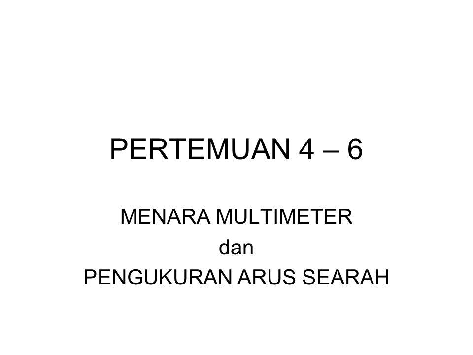 PERTEMUAN 4 – 6 MENARA MULTIMETER dan PENGUKURAN ARUS SEARAH
