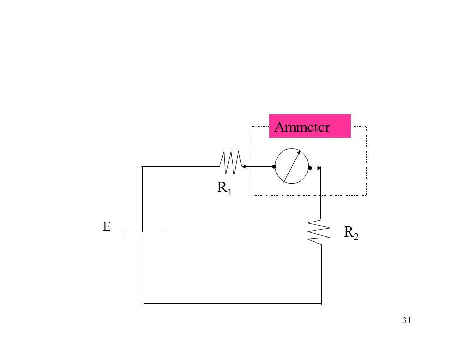 31 R1R1 E R2R2 Ammeter