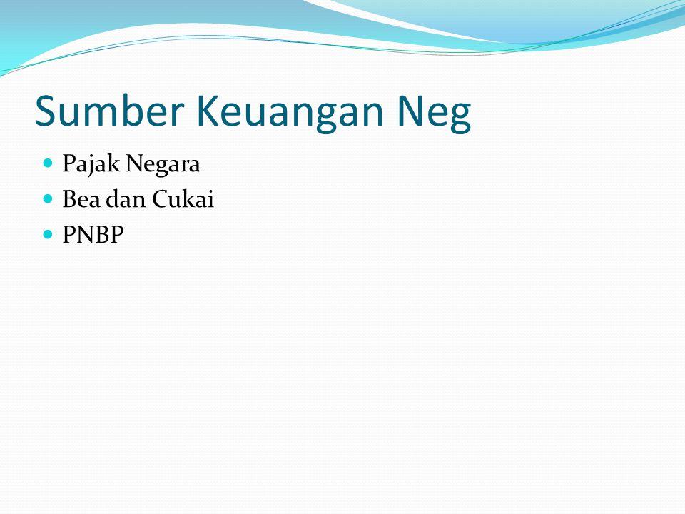 Sumber Keuangan Neg Pajak Negara Bea dan Cukai PNBP