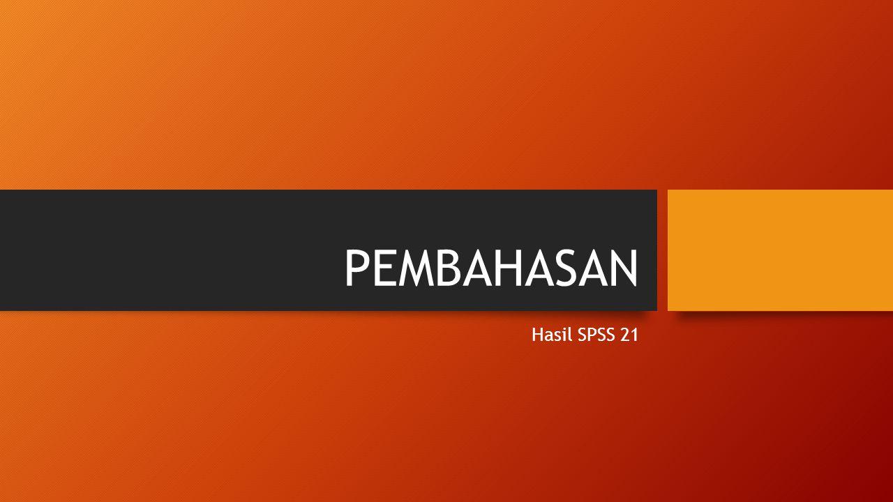 PEMBAHASAN Hasil SPSS 21