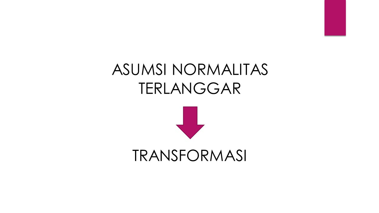 ASUMSI NORMALITAS TERLANGGAR TRANSFORMASI