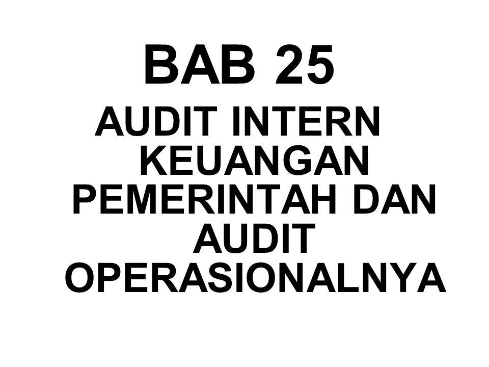 BAB 25 AUDIT INTERN KEUANGAN PEMERINTAH DAN AUDIT OPERASIONALNYA