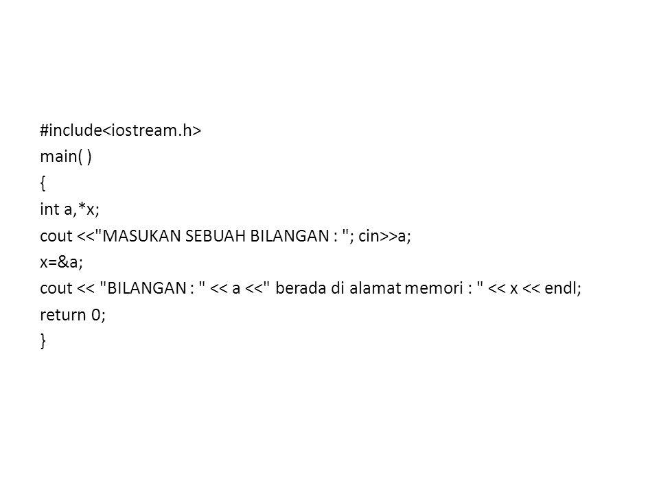 #include #define MAX 20 void quick_sort(int darr[MAX], int lb, int ub) { int a; int up, down; int temp; if (lb >= ub) return; a = darr[lb]; up = ub; down = lb; while (down < up) { while (darr[down] <= a) down++; while (darr[up] > a) up--; if (down < up) { temp = darr[down]; darr[down] = darr[up]; darr[up] = temp; } darr[lb] = darr[up]; darr[up] = a; quick_sort(darr, lb, up-1); quick_sort(darr, up+1, ub); } main() { int arr[MAX]; int i; int n; int lb = 0, ub; printf( MAsukkan banyaknya data yang ingin diurutkan : ); scanf( %d , &n); ub = n; printf( MAsukkan data-datanya : \n ); fflush(stdin); for (i = 0; i < n; i++) scanf( %d , &arr[i]); quick_sort(arr, lb, ub); printf( \nHAsil pengurutan : \n ); for (i = 0; i < n; i++) printf( %2d , arr[i]); Return 0 ; }