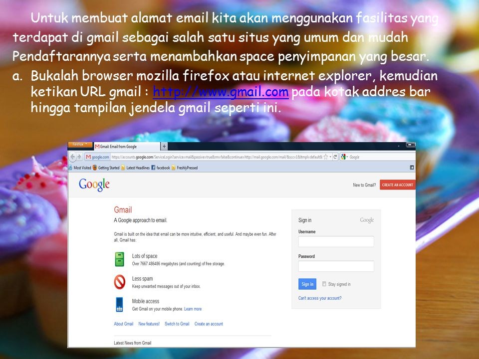 3)Untuk membaca email, kita dapat langsung mengklik kotak masuk dan dan klik sekali salah satu dari judul email yang ingin dibaca hingga halaman isi syrat terbuka.