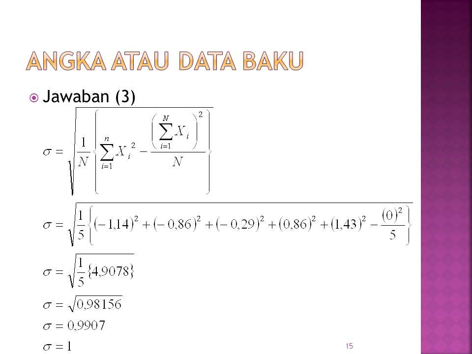  Jawaban (3) 15