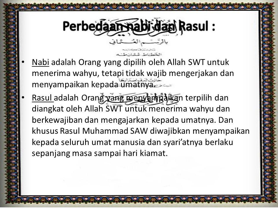 Iman kepada Rasul Allah termasuk rukun iman yang keempat dari enam rukun yang wajib diimani oleh setiap umat Islam.