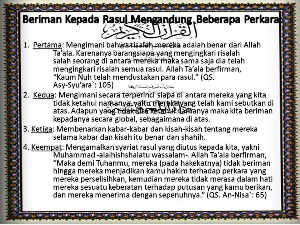 1.Adam AS.11. Yusuf As 21. Yunus As 2.Idris AS. 12.