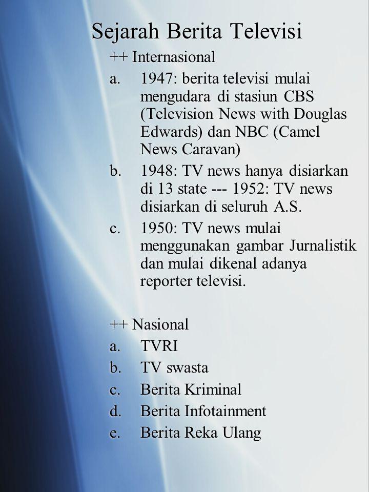 Sejarah Berita Televisi ++ Internasional a.