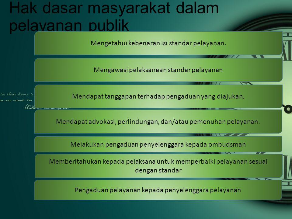 Pelanan diskriminatif Pelayanan public di instansi pemerintahan Nusa Tenggara Barat masih dinilai buruk sehingga bertentangan dengan UU no 25 tahun 2009 tentang pelayanan Publik