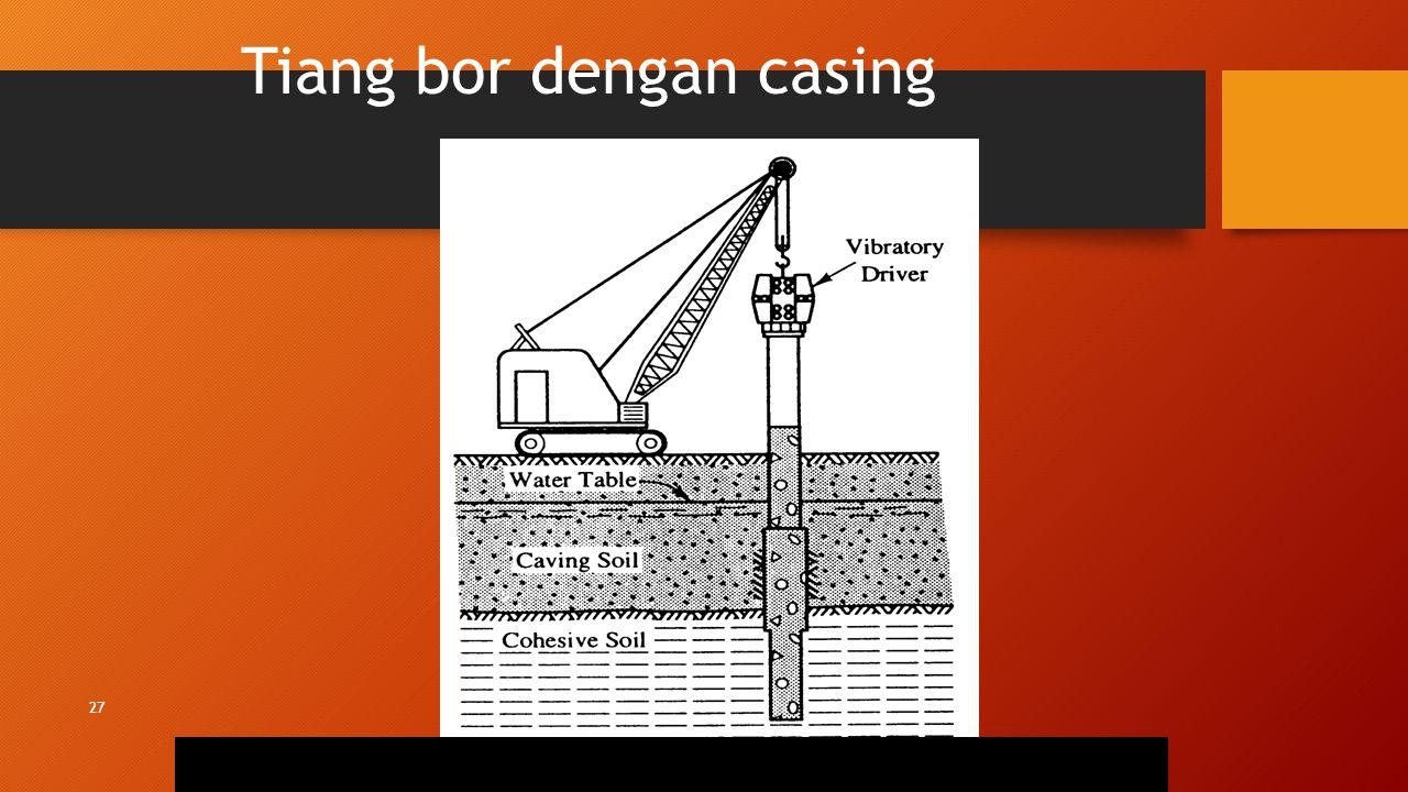 27 Tiang bor dengan casing