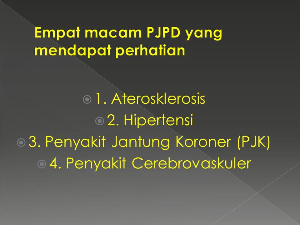  1. Aterosklerosis  2. Hipertensi  3. Penyakit Jantung Koroner (PJK)  4. Penyakit Cerebrovaskuler