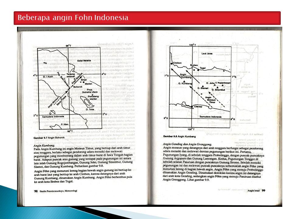 Beberapa angin Fohn Indonesia