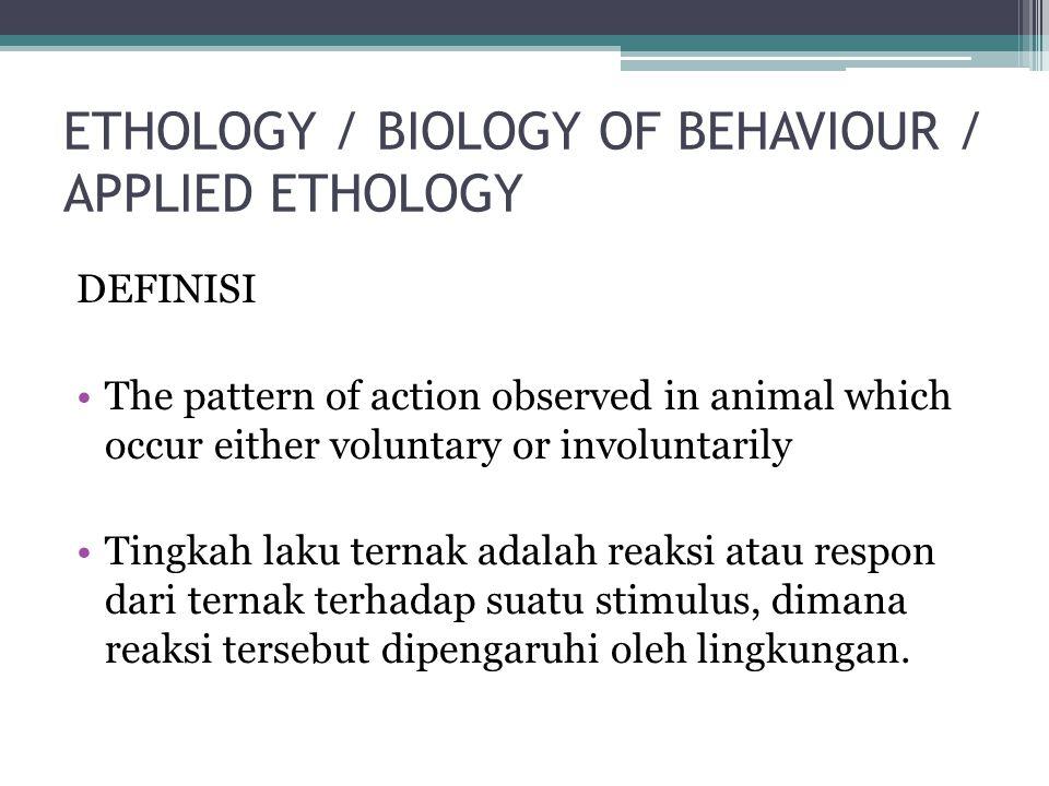 ETHOGRAM ( Gambaran Tentang Berbagai Sifat Tingkah Laku) Merupakan katalog yang tepat dan terinci yang memuat respons yang membentuk tingkah laku Untuk mengetahui bagaimana hewan mengatasi bermacam-macam lingkungan dan pengalaman.
