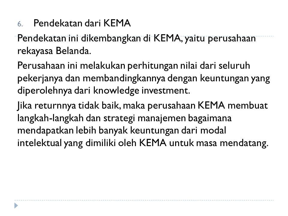 6. Pendekatan dari KEMA Pendekatan ini dikembangkan di KEMA, yaitu perusahaan rekayasa Belanda. Perusahaan ini melakukan perhitungan nilai dari seluru