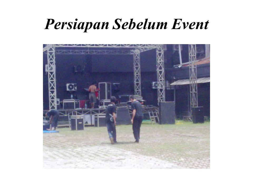 Persiapan Sebelum Event