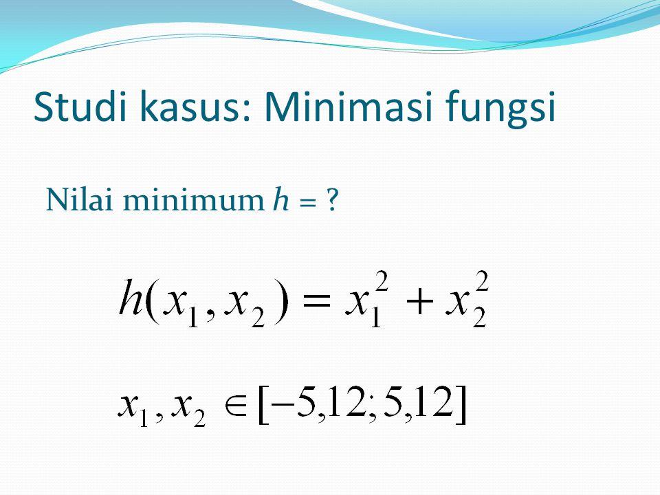 Studi kasus: Minimasi fungsi Nilai minimum h =
