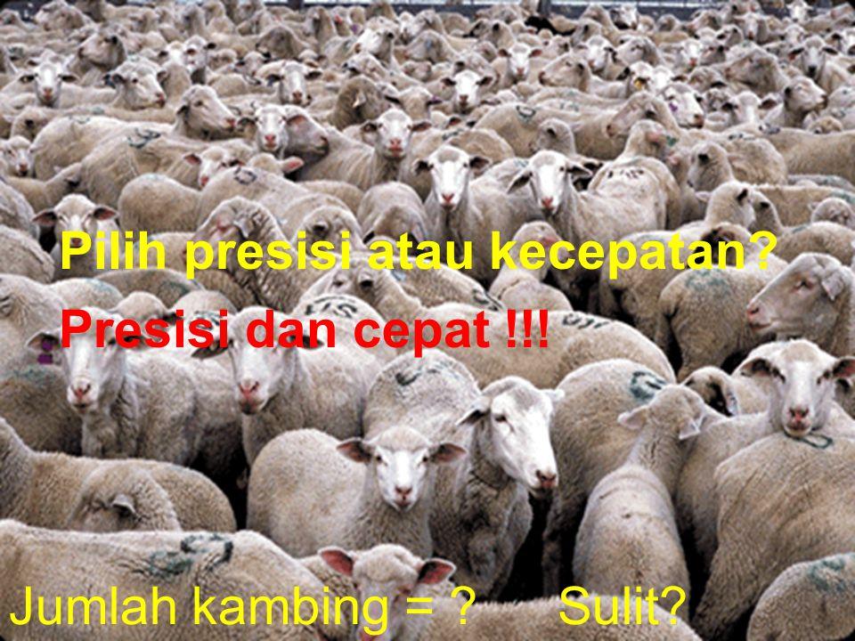 Jumlah kambing = Pilih presisi atau kecepatan Presisi dan cepat !!! Sulit