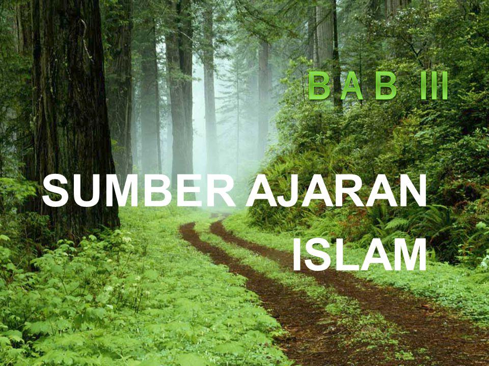 Allah telah menetapkan sumber ajaran Islam yang wajib diikuti, sebagaimana firman Allah swt.