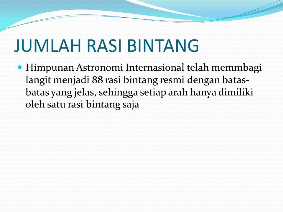 ZODIAK Zodiak adalah sebuah sabuk khayal di langit dengan lebar 18 derajat yang berpusat pada lingkaran ekliptika, tetapi istilah ini dapat pula merujuk pada rasi-rasi bintang yang dilewati oleh sabuk tersebut, yang sekarang berjumlah 12 Kedudukan Matahari sendiri dibedakan antara waktu tropikal dan waktu sideral yang menyebabkan terdapat 2 macam zodiak, yaitu zodiak tropikal dan zodiak sideral.
