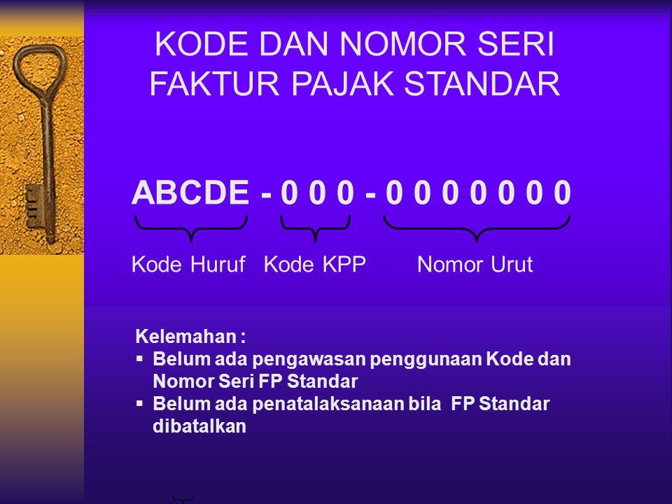 FAKTUR PAJAK SEDERHANA Ps 3 Kep.Dirjen Pajak No KEP-524/PJ./2000 j.o.