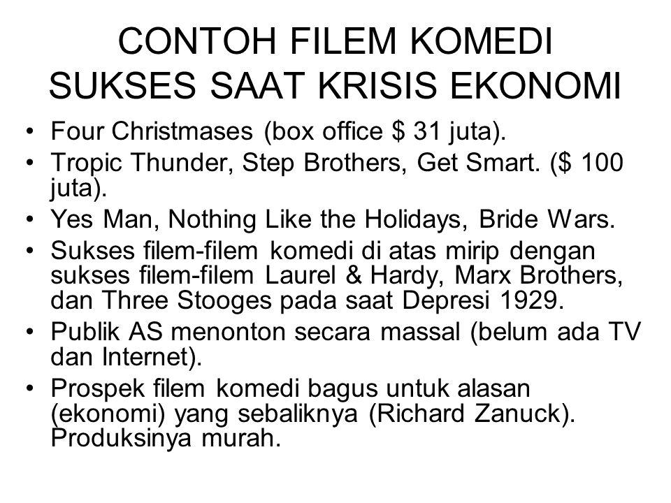 CONTOH FILEM KOMEDI SUKSES SAAT KRISIS EKONOMI Four Christmases (box office $ 31 juta).