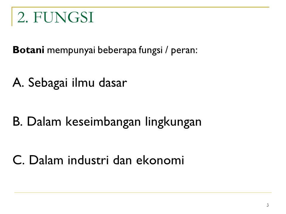 4 3.RUANG LINGKUP KAJIAN 1. Introduction 2. Chemistry of life 3.