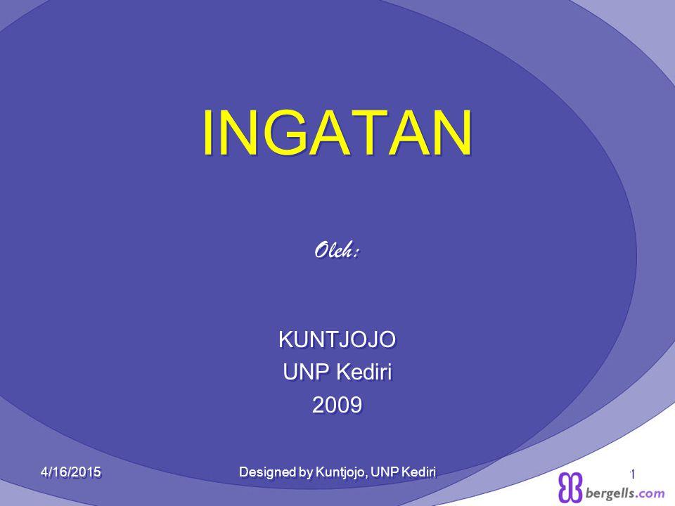 INGATAN Oleh: KUNTJOJO UNP Kediri 2009 Oleh: KUNTJOJO UNP Kediri 2009 4/16/2015Designed by Kuntjojo, UNP Kediri1