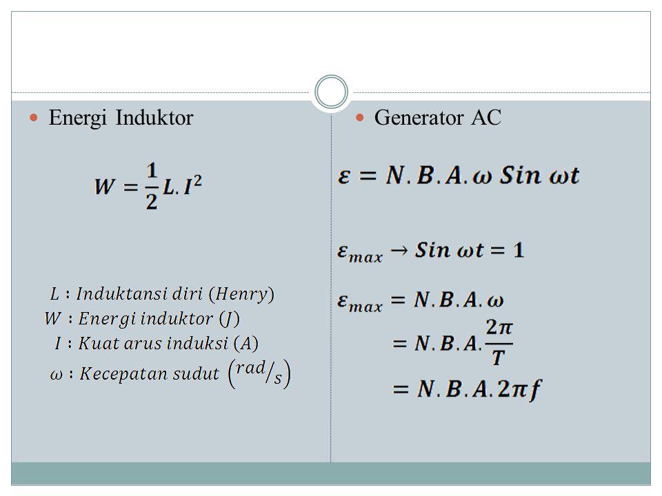 Energi Induktor Generator AC