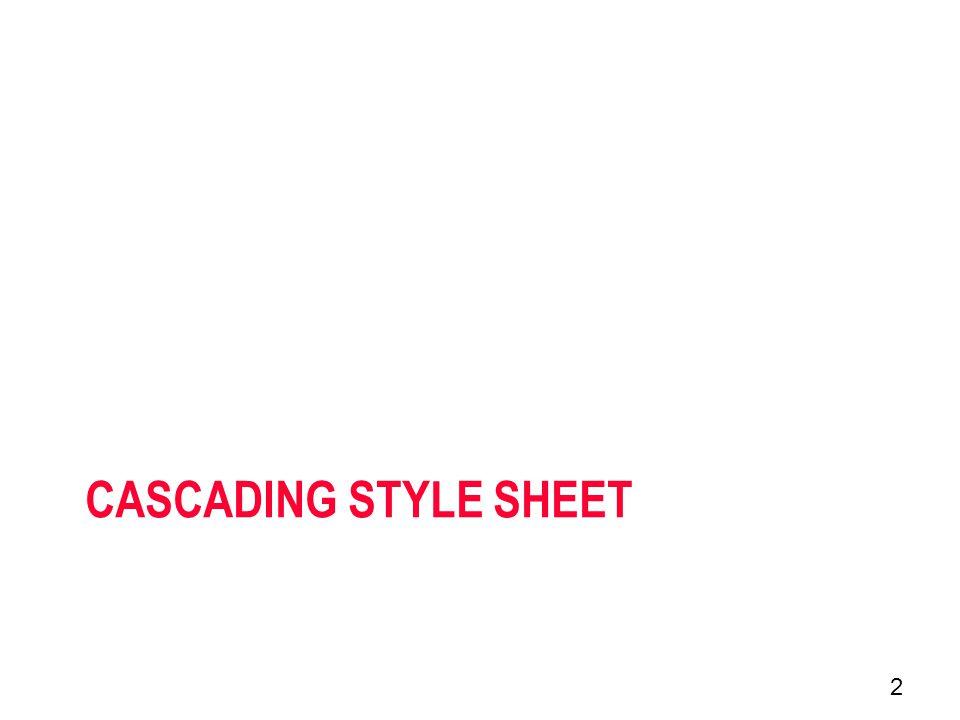 CASCADING STYLE SHEET 2