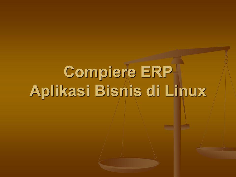 Compiere ERP Aplikasi Bisnis di Linux