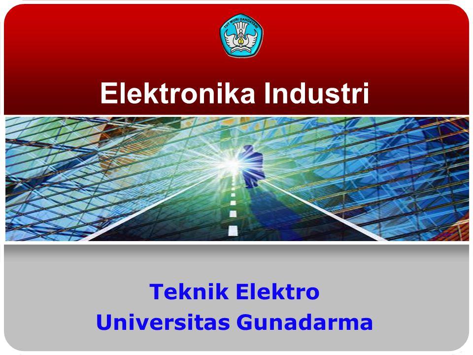 Elektronika Industri Teknik Elektro Universitas Gunadarma