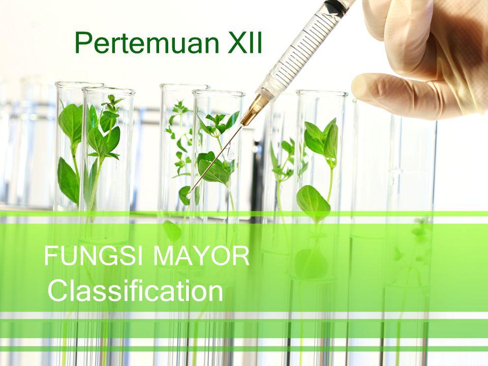 FUNGSI MAYOR Classification Pertemuan XII