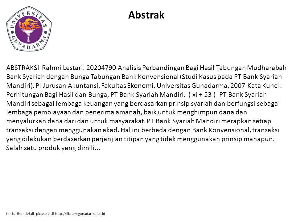 Abstrak ABSTRAKSI Rahmi Lestari.