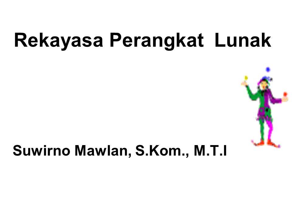 Suwirno Mawlan, S.Kom., M.T.I Rekayasa Perangkat Lunak