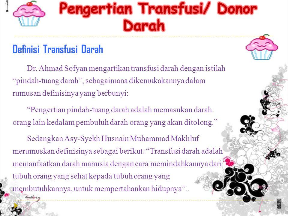 Definisi Transfusi Darah Dr.