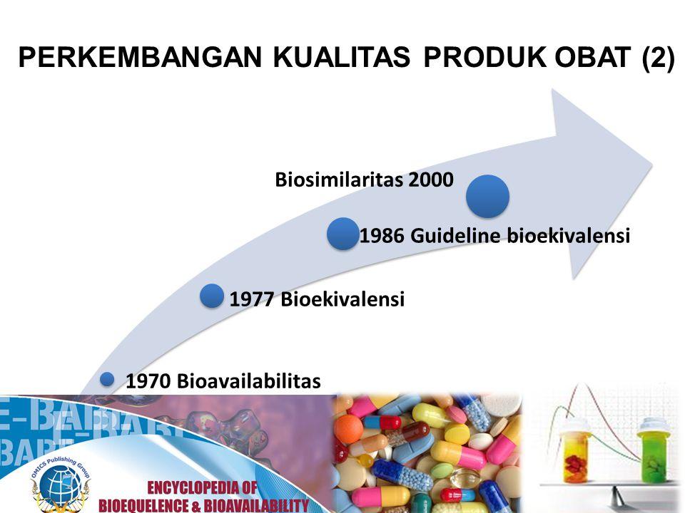 MENGAPA PERLU BIOEKIVALENSI ?.2. Jaminan efficacy, quality dan safety 1.