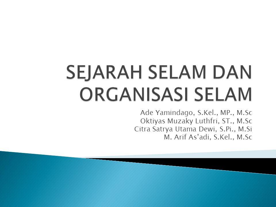 Ade Yamindago, S.Kel., MP., M.Sc Oktiyas Muzaky Luthfri, ST., M.Sc Citra Satrya Utama Dewi, S.Pi., M.Si M. Arif As'adi, S.Kel., M.Sc