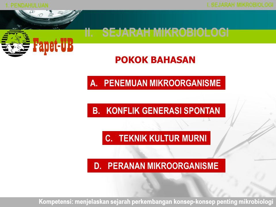 Company name Fapet-UB II.SEJARAH MIKROBIOLOGI POKOK BAHASAN 1.