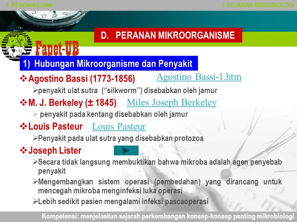 Company name Fapet-UB D.PERANAN MIKROORGANISME 1.PENDAHULUANI.