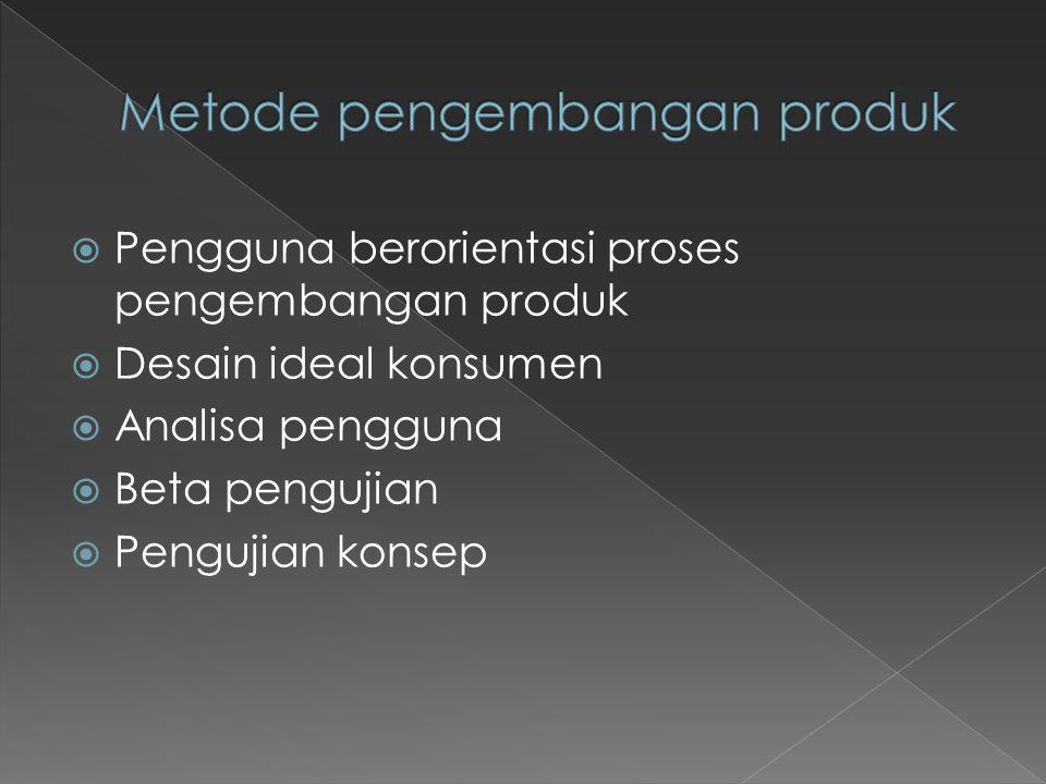  Kebutuhan pelanggan harus menjadi titik awal dari proses pengembangan produk.