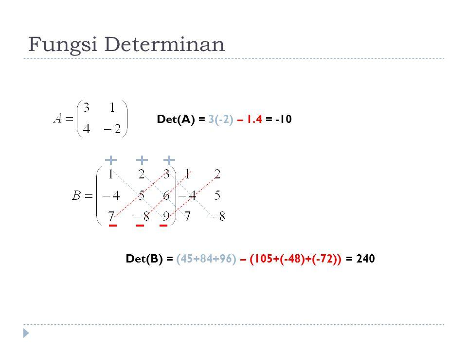 Teorema  Matriks A (n x n), terhadap A dilakukan OBE 2.