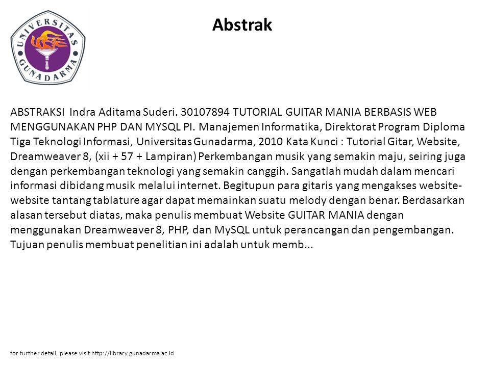 Abstrak ABSTRAKSI Indra Aditama Suderi.