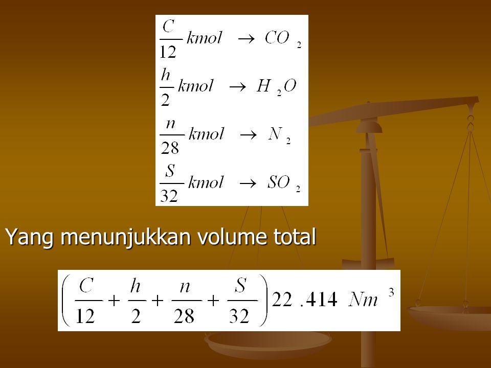 Yang menunjukkan volume total