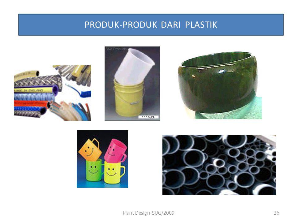 Plant Design-SUG/200926 PRODUK-PRODUK DARI PLASTIK