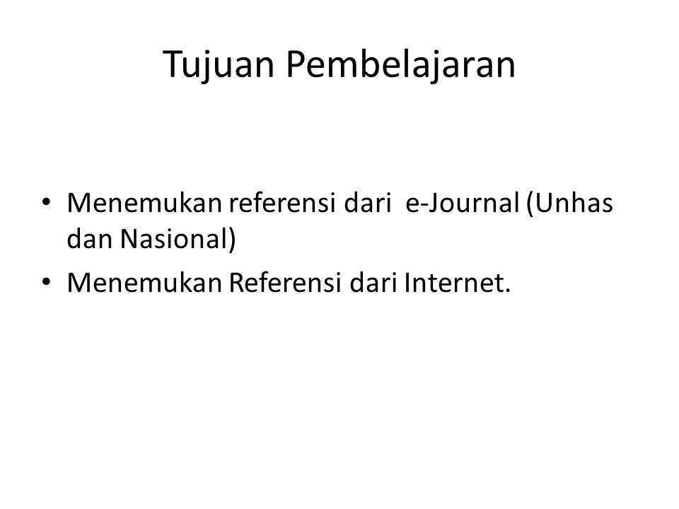Tanda Kutip ( ) mencari referensi yang mengandung beberapa kata kunci yang tidak dapat dipisahkan antara satu dengan lainnya.