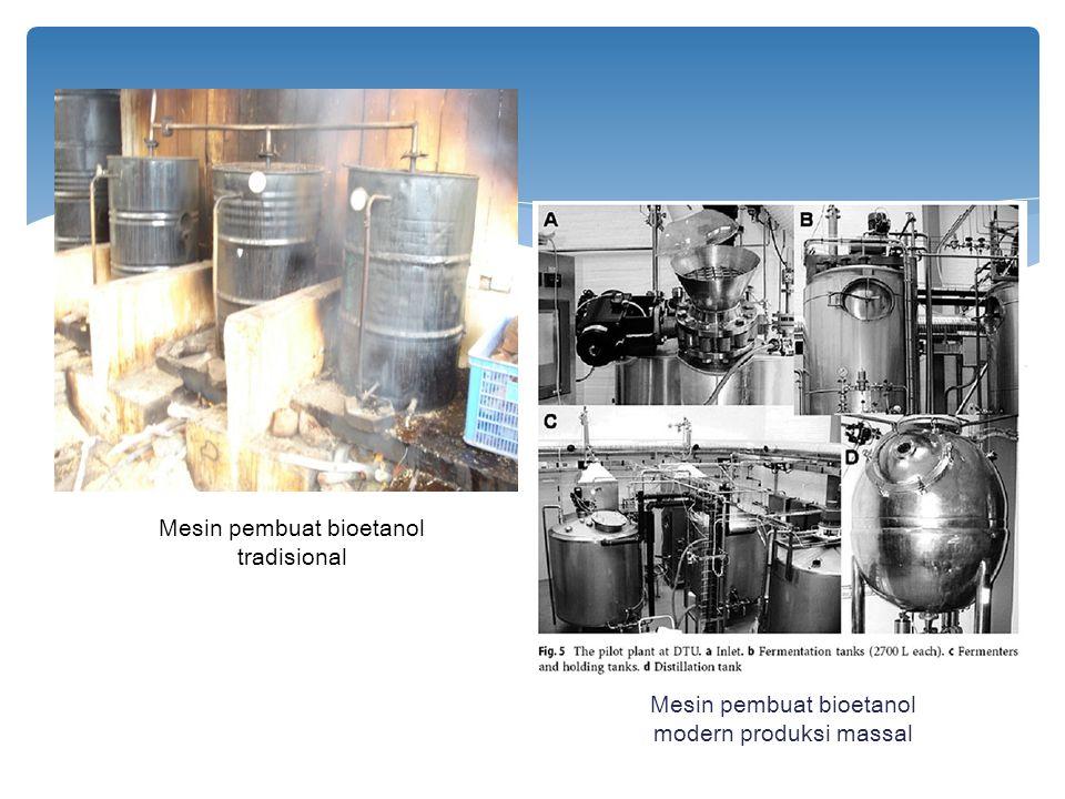 Mesin pembuat bioetanol tradisional Mesin pembuat bioetanol modern produksi massal